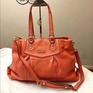 Coach Ashley Salmon, Pink, Coral handbag, purse